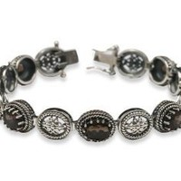 Sterling Silver and Smoky Quartz Vintage Bracelet: Jewelry: Amazon.com