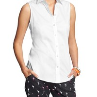 Factory Non Iron Sleeveless Shirt