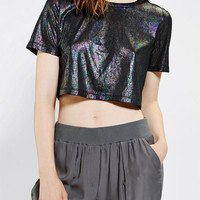 byCORPUS Metallic Super-Cropped Tee