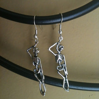 Halloween Collection- Skeleton Hanging Earrings