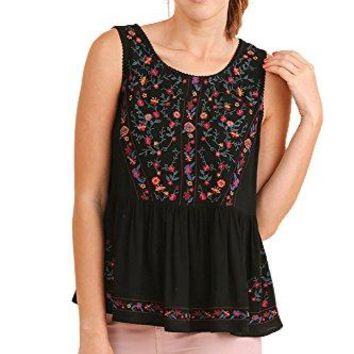 Umgee Boho Bliss Top Embroidered Babydoll