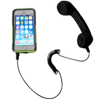 Evelots® Mini Vintage Phone Handset For IPhones,Retro Connector,Cell Phone, Black