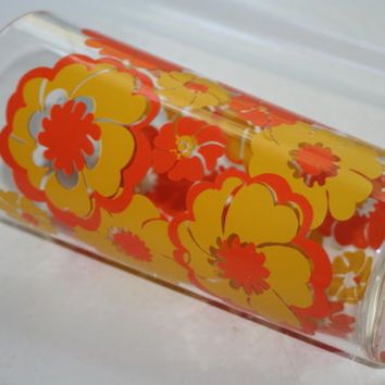 Retro Fireking Flower Glass,Vintage Glassware