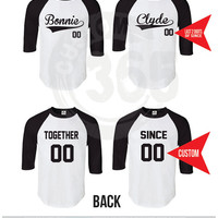 Bonnie and Clyde Raglan SET OF 2 (Straight Fit Raglan)