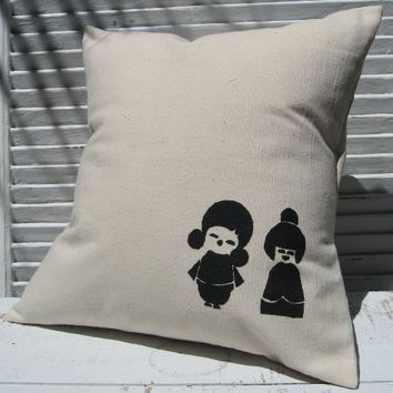 Supermarket - Cute Little Japanese Girls Pillow Cover from finch-design