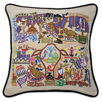 Fort Worth Hand Embroidered Pillow