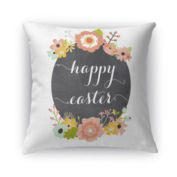 HAPPY EASTER Accent Pillow By Rosa Vila