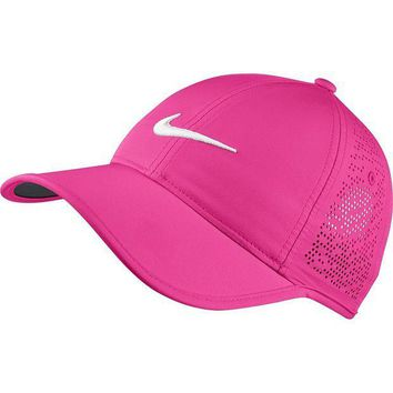 ESBON3F Nike Women's Golf Cap (Variety Of Colors Available) (Hyper Pink/Anthracite/White)