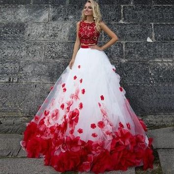 Custom Red Dinner Party Dresses Catwalk Show Thin Clothes