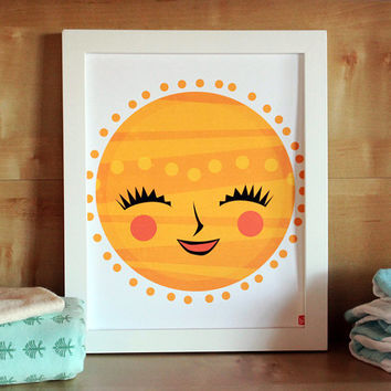 My Sunshine - Modern Nursery Art Print - Kids Wall Art - Nursery Decor - Baby Shower - Modern Art - Gender Neutral
