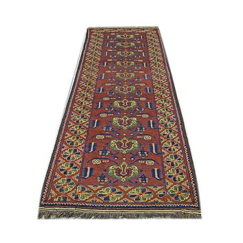 Oriental Baluchi Wool Tribal Persian Rug, Brown/Green