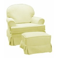 The Rockabye Glider Round Back Glider, Chenille Yellow