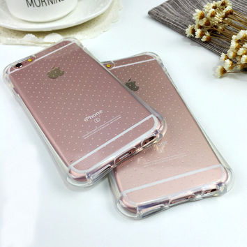 Cute On Sale Stylish Hot Deal Iphone 6/6s Iphone Korean Transparent Silicone Apple Phone Case [8153015239]