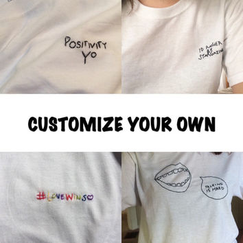 Customizeable Embroidered/Stitched T-Shirt