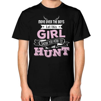 Girl hunt Unisex T-Shirt (on man)