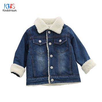 Trendy Kindstraum 2018 Kids Thick Cotton Jackets Children Solid Denim Coats Winter Warm Pockets Outwear for Boys & Girls,RC1723 AT_94_13