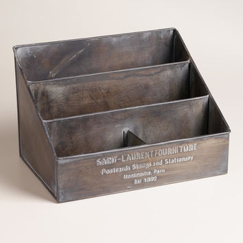 Embossed Metal St. Laurent Desk Organizer - World Market