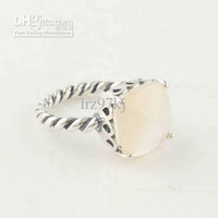 High-quality Women Ring 100% 925 Sterling Silver White crystal Ring European Pandora Style Charm Ring Fashion Jewelry Ring