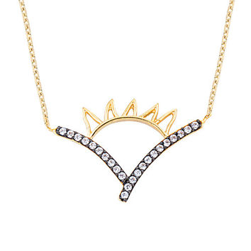 Rising Sun 14k Solid Gold Necklace