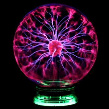 Novelty Glass Magic Plasma Ball Light 3 4 5 6 inch Table Lights Sphere Nightlight Kids Gift For New Year Magic Plasma Night Lamp