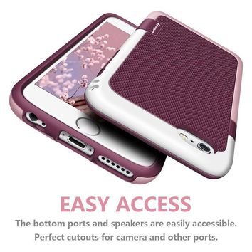 Premium Dropproof PC TPU Silicone Hard Protective Case for iphone 6 6S 7 Plus full body Case Shatterproof Tough Covers Capinhas
