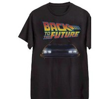 Men's Back to Future T-Shirt Black : Target
