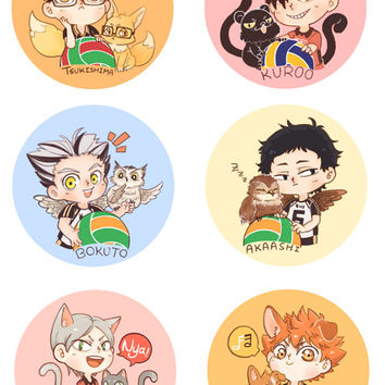 Haikyuu!! 3rd Gym Button Set
