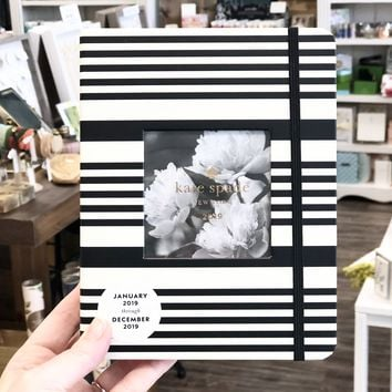 kate spade new york Medium Planner, Black Stripe (Jan 2019 - Dec 2019)