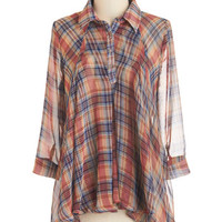 ModCloth Mid-length 3 In the Write Direction Top