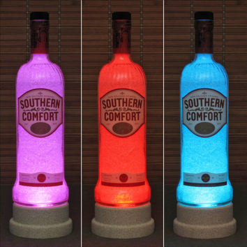 Southern Comfort Color Changing LED Remote Controlled Bottle Lamp Bar Light New Orleans