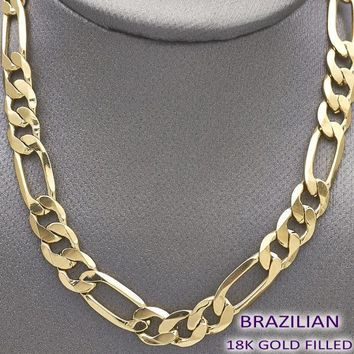 Gold Layered Men Figaro Basic Necklace, by Folks Jewelry