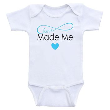 "Cute Baby One Piece ""Made With Love"" Cute Gender Neutral Baby Onesuit Bodysuits"