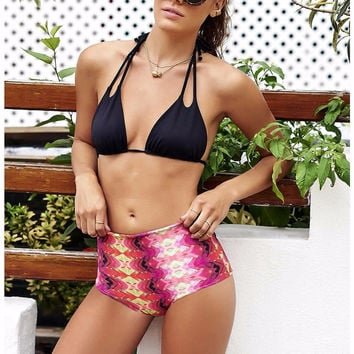 Beach Swimsuit New Arrival Summer Hot Sexy Swimwear High Waist Print Ladies Bikini [8678839949]