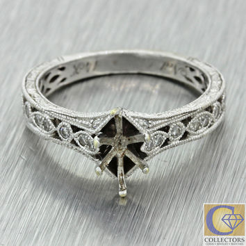 Neil Lane 14k Solid White Gold Diamond Marquise Stone Mounting Setting Ring