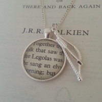 Lord of the Rings Legolas Necklace Hobbit