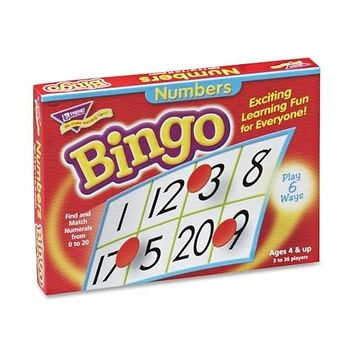Trend Enterprises Numbers Bingo, For Ages 4 And Up - 3 Units