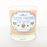 Club Tortimer - Animal Crossing Inspired Scented Soy Candle (Coconut Hibiscus)
