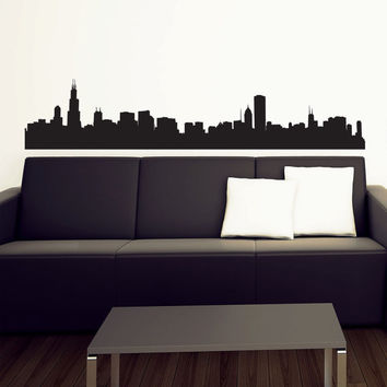 Chicago Skyline Wall Decal  Vinyl Sticker  46  Free by urbandecal