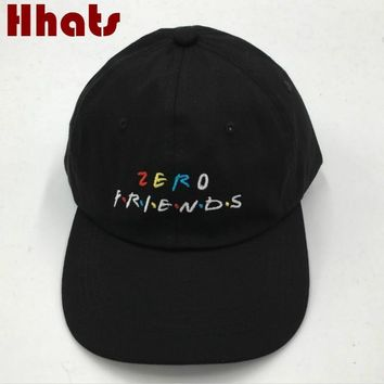 Trendy Winter Jacket which in shower Black Embroidered ZERO FRIEND Dad Hat Adjustable Funny Baseball Cap Hip Hop Fashion Snapback Trucker Bone Male AT_92_12