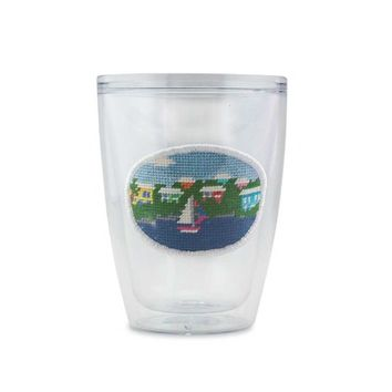 Island Time Needlepoint Tumbler by Smathers & Branson