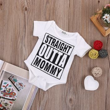 Straight Outta Mommy Printed Baby Romper
