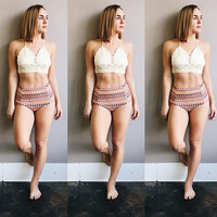 A High Waisted Swim Bottom in Aztec