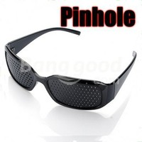 Eyes Exercise Pinhole Glasses Eyesight Vision Improve Free Shipping!  - US$5.13