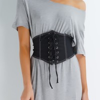 Hailey Corset Belt - Black