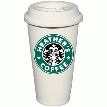 Personalized Starbucks Inspired Coffee Mug, Custom Inspired Dunkin Coffee Thermos, Custom Travel Mugs, Custom Hot Liquid To Go Cup