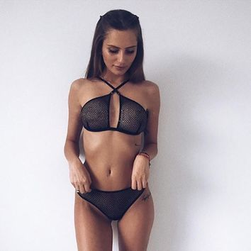 On Sale Cute Hot Deal Sexy Hot Sale Women's Fashion Hollow Out Set Exotic Lingerie [10603607235]