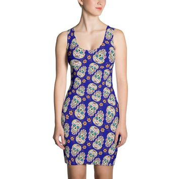Sugar Skull Day of The Dead DARK BLUE Dress