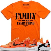 FOE Orange Sneaker Tees Shirt - Nike Air Just Do It