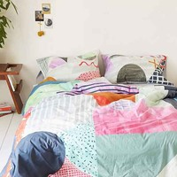 Agnes Colorblock Duvet Cover- Multi Full/queen