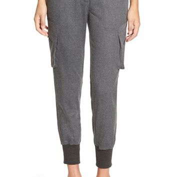 Women's James Jeans Slouchy Fit Flannel Utility Jogger Pants,